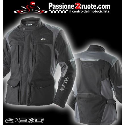 Giacca moto touring Axo Voyager Nero jacket