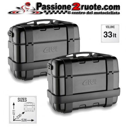 Set 2 Valigie Givi Trk46b Trekker 46 lt Alluminio nero