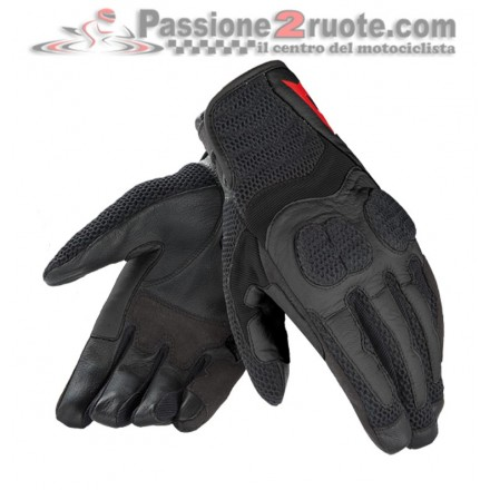 Guanti donna moto estivi traforati Dainese Air Mig lady black perforated summer gloves
