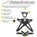 Porta Targa Lightech Regolabile Aprilia Dorsoduro 1200 2008-2015 TARAP104 adjustable license plate
