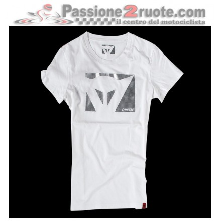 T-shirt donna Dainese Color New Lady Bianco Carbon