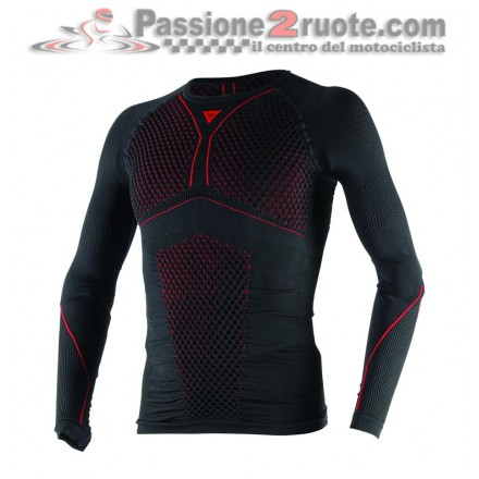 Maglia Termica Dainese maniche lunghe D-Core Thermo Tee LS Nero rosso black red long sleeve