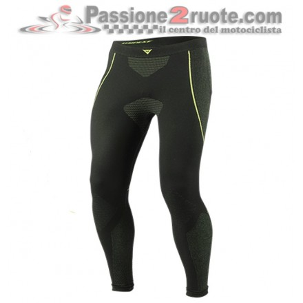 Pantalone Termico Dainese D-Core Dry Pant LL Nero - Giallo-Fluo