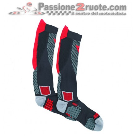 Calze Termiche Dainese D-Core High Socks Nero Rosso black red