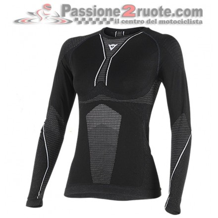 Maglia Termica donna Dainese D-Core Dry Tee LS Lady Nero bianco black white