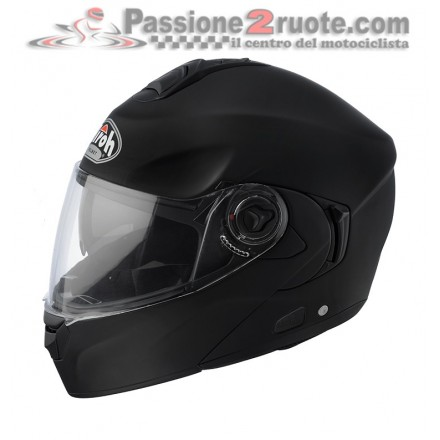 Casco Modulare aprilbile moto scooter Airoh Rides nero opaco Black Matt helmet