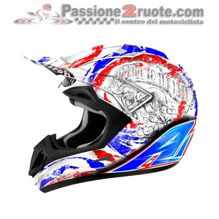 Casco moto cross enduro motarda Airoh Jumper Frame Gloss off road helmet casque
