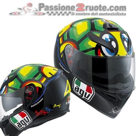 Casco integrale moto gp Agv K-3 SV Valentino Rossi Tartaruga mugello helmet