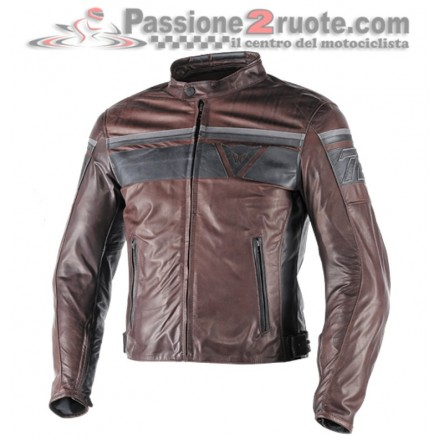 Giacca moto vintage Dainese Blackjack Pelle Testa di Moro nero leather jacket