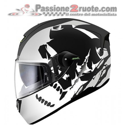 Casco Shark Skwal Instinct Matt Black White Silver