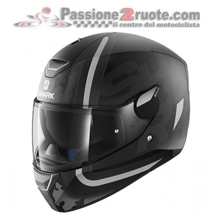 Casco Shark Skwal Cargo Matt Black Anthracite Silver