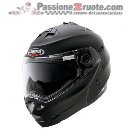 Casco modulare apribile moto Caberg Duke nero opaco matt black flip up helmet casque
