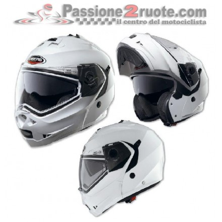 Casco modulare apribile moto Caberg Duke bianco White helmet