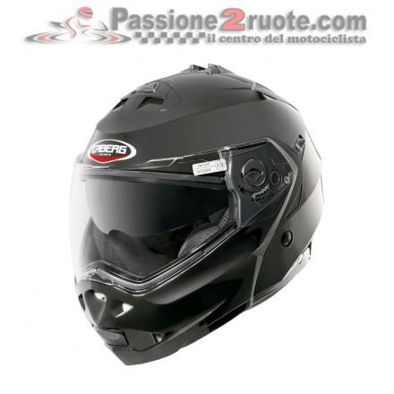 Casco modulare apribile Caberg Duke Smart Black moto helmet