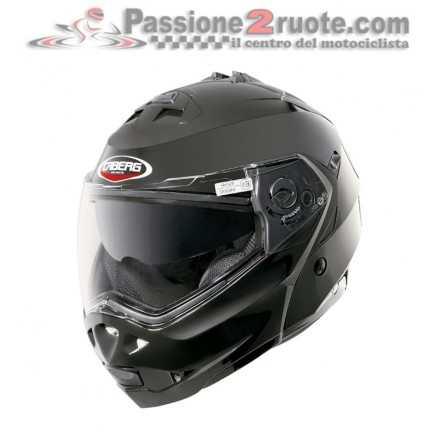 Casco modulare apribile Caberg Duke Smart Black moto helmet