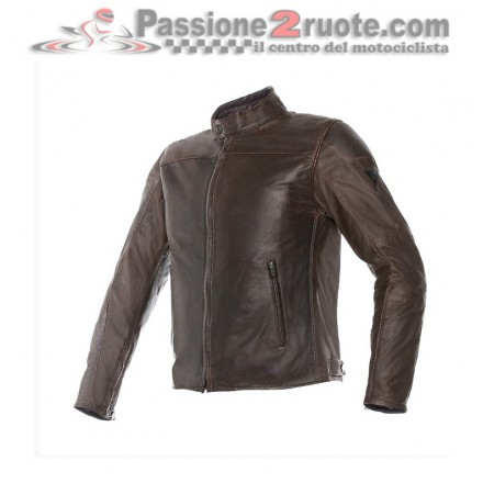 Giacca moto Dainese Mike pelle testa di moro leather jacket