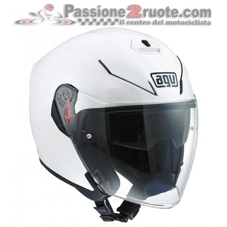 Casco jet Agv K5 jet bianco perla white pearl helmet casque