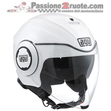 Casco jet moto scooter Agv fluid bianco perla pearl white helmet casque