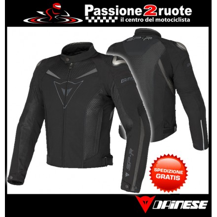 Giacca Dainese Super Speed Tex Nero Nero Dark-Gull-Gray