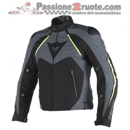 Giacca moto Dainese Hawker D-Dry Nero Giallo-Fluo jacket