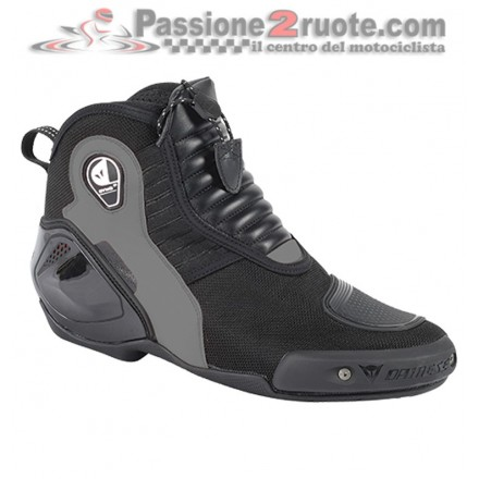 Scarpe moto sportive racing Dainese Dyno D1 nero black antracite shoes