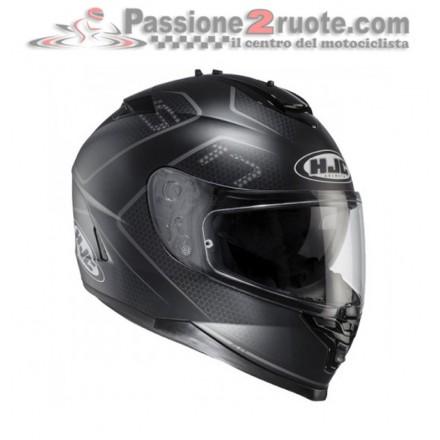 Casco integrale moto Hjc Is 17 Lank Mc5sf nero opaco grigio black matt grey helmet casque