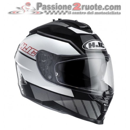 Casco integrale moto Hjc Is 17 Tridents bianco nero black white Mc5 helmet