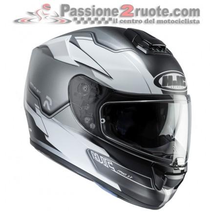 Casco integrale moto in fibra con visierino parasole Hjc Rpha St Zaytun Mc10sf Helmet