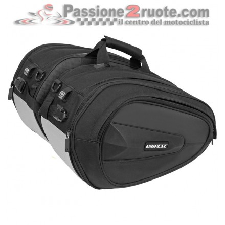 Borse valigie Laterali morbide moto universali Dainese D-Saddle Motorcycle Bag Stealth-Black