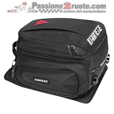 Borsa Sella moto scooter Dainese D-Tail Motorcycle Bag Stealth-Black