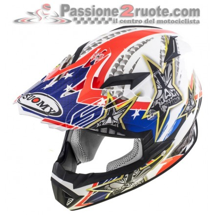 Casco moto cross enduro motard Suomy Rumble Tex off Road helmet casque