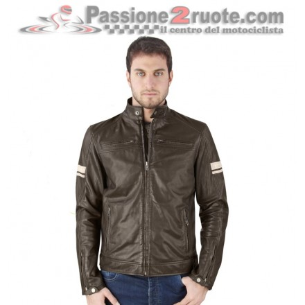 Giacca pelle uomo moto vintage scarmber cafe racer custom naked OJ Mythos man leather jacket