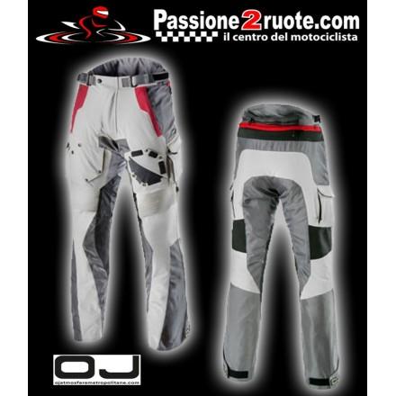 Pantaloni moto triplo strato adventure touring Oj Desert Evo ghiaccio rosso Ice Red pant trouser
