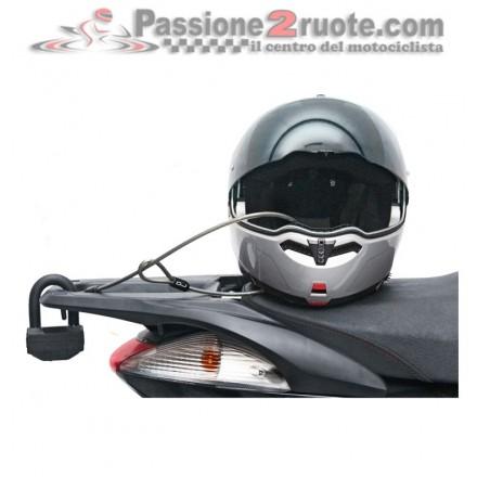 Portarsi dietro il casco una volta scesi dalla moto è una vera e propria scocciatura. Risolvi il problema con il cavo antifurto