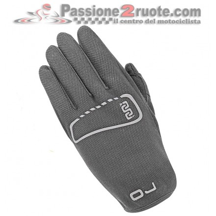 Guanti moto estivi OJ Sketch in tessutto elastico nero black summer gloves
