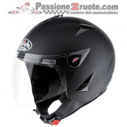 Casco jet Airoh Compact Jt nero opaco black matt helmet casque
