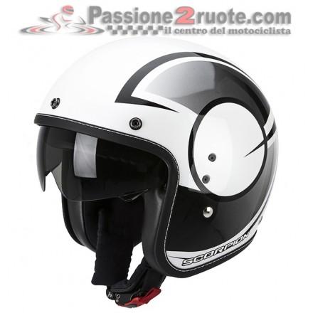 Casco jet moto vintage scrambler retro cafe racer custom Scorpion Belfast Citurban bianco nero white black helmet casque