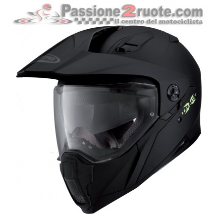 Casco integrale enduro stradale adventure Caberg Xtrace nero opaco matt black helmet casque