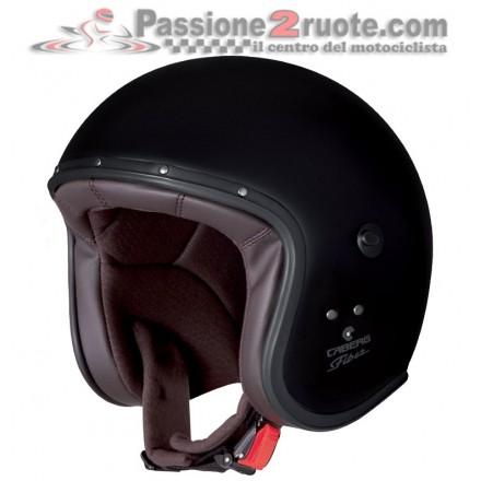 Casco jet moto vintage custom cafe racer retro classic Caberg Freeride nero opaco Matt Black helmet casque