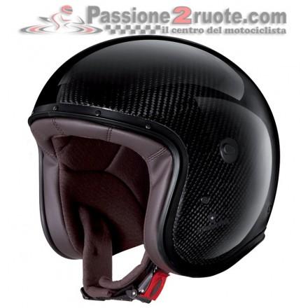 Casco jet carbonio moto vintage custom cafe racer retro classic Caberg Freeride carbon helmet casque