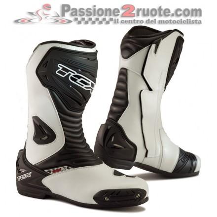Stivali moto sport touring racing Tcx S-sportour Evo air bianco white boots