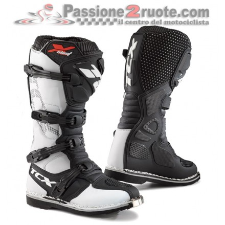 Stivali moto cross enduro Tcx X-blast bianco white off road mx boots