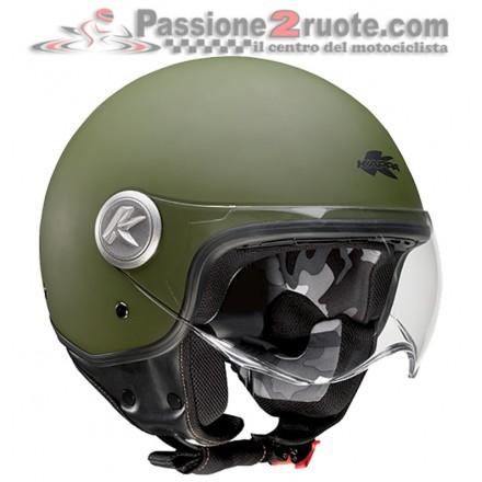 Casco Kappa Kv20 Rio Verde Militare Opaco green military helmet