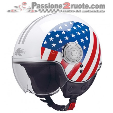 Casco jet moto scooter Kappa Kv8 National Usa helmet