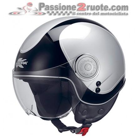 Casco jet moto scooter Kappa Kv8 Cosmo black silver helmet