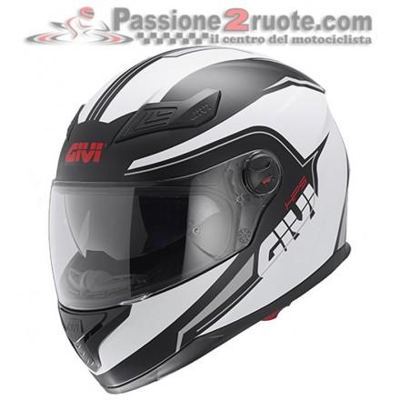 Casco integrale moto Givi 50.4 Sniper Spectrum Nero Bianco black white helmet casque