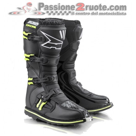 Stivale moto cross Axo Drone limited nero giallo black yellow enduro motard off road boots