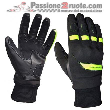 Guanti moto Jollisport Span Nero Giallo Fluo gloves