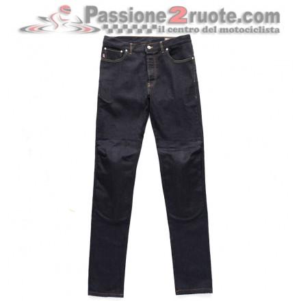 Jeans pantalone moto con protezioni Blauer Kevin blu scuro