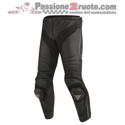 Pantalone moto Pelle Dainese Misano Nero black leather pant